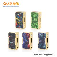 Wholesale frames using - Voopoo Drag Gold Frame Box Mod 130-157w Out Put fit Uforce Tank use Uforce U2 Coil Head