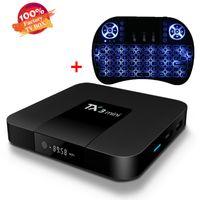 программное обеспечение для тв оптовых-Горячая S905W Android TV Box программное обеспечение потокового TX3 мини 2 ГБ 16 ГБ 4K Smart TV Box беспроводная клавиатура Combo air mouse