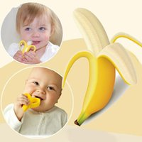 Wholesale Dental Care Toothbrush - Food baby teether toy toothbrush Infant Cartoon banana Shape Teethers Corn modeling Silicone Teething For Baby Teether Oral Care Dental Care
