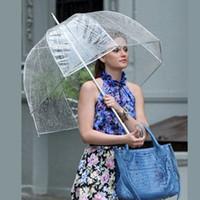büyük şemsiyeler toptan satış-59 cm Büyük Pvc Temizle Sevimli Kabarcık Derin Dome Kolu Şemsiye Dedikodu Kız Rüzgar Direnci Çocuklar Yetişkin Ev Eşyalar Şemsiye BBA328