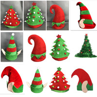 196c0ef7eeaae Christmas Elf Hats Christmas Tree Warm Flannel Beanies Caps For Adult And  Kids Cosplay Costume Party Hat Xmas Decoration Gifts WX9-1114