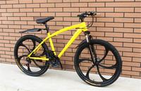 ingrosso struttura di carbonio di qualità-Bici da 26 pollici di alta qualità ammortizzatore a molla a doppio disco bici telaio in acciaio al carbonio 21 velocità mountain bike