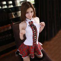 traje uniforme japonês venda por atacado-2018 Novo Sexy Traje Da Menina Da Escola Japonesa Mulheres Estudante Traje Uniforme Lingerie Sexy Hot Erotic Fantasia Homme Role-playing Y18102206