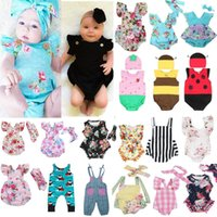 ingrosso pigiami organici-Neonato Vestiti per bambini Bambini Tutina tuta Tutu Pagliaccetto Tute Abiti Lotto baby boy designer neonato bambina vestiti