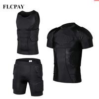 camisas de ginástica venda por atacado-New Honeycomb Sports Safety Protection Gear Futebol goleiro Jersey + Shorts + coletes de futebol ao ar livre acolchoado Protector Gym roupas