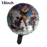 Wholesale kids toys online - 18 Inch Fortnite Aluminum Foil Balloon Kids Toy Large Balloon Birthday Party Supplies Christmas Halloween Decoration
