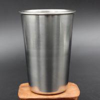 kapalı camlar toptan satış-16 oz Tek Duvar Paslanmaz Çelik Pint Gözlük bira kupa metal bardak Seyahat için Mükemmel, Açık, Kamp ve Gündelik Kullanım Kapalı