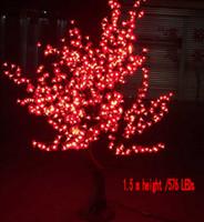 ingrosso hanno portato i gambi-Simulazione Albero palo 576 LED Cherry Blossom Tree Light 1.5m Albero naturale Gambo Illuminazione Festa di Natale Matrimonio LED Fiori giardino decoratio