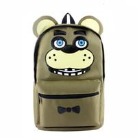 okul çantaları çizgi film karakterleri toptan satış-Beş Nights freddy'nin Freddy Chica Foxy Bonnie Karikatür Karakter Omuz Çantası FNAF Sırt Çantası Okul Çantası ücretsiz kargo