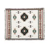 гобелены оптовых- Knitted Blankets Ethnic Chenille Geometric Blanket Sofa Decorative Throws on Sofa/Bed Tassel Decor Wall Tapestry Cloth