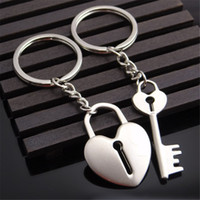 Wholesale nissan stainless steel online - Couple Keyring Gift A Pair of Couple Keychain Car Key Ring for Ford Hyundai Infiniti Nissan Peugeot Skoda Subaru Volvo Key Chain