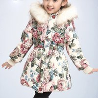 vêtements fille capuche achat en gros de-Vêtements pour enfants Parka Girl Winter Kids Vestes pour filles Vêtements pour adolescents épais manteau chaud avec capuche Taille 3 4 6 8 10 12 Année