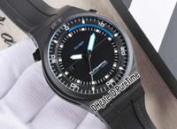 yarışan otomatik saatler toptan satış-En iyi Sürüm P'6780 P6780 PD Sınırlı Sayıda Tasarım Spor Araba Yarışı Dalış Saatler Siyah PVD Siyah / Mavi Otomatik Mens Watch Kauçuk pd04