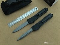 Wholesale folding patterns - Microtech Marfione Damascus pattern pocket knife Excellent automatic knife