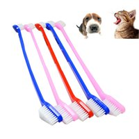 Wholesale Pet Toothbrush Cat Puppy Dog Dental Grooming Dog Tooth Brush Health Pet Supplies Color Random