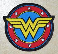 eisen-logo-patch großhandel-Heiße sall! ~ WONDER Woman Schild Logo Eisen auf Patches, annähen Patch, Applikationen, aus Stoff, 100% garantierte Qualität