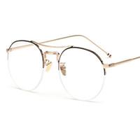 46f06cd4363a9 Nuevos marcos redondos de los marcos de las lentes del metal de los hombres  de las mujeres marcos ópticos de los vidrios de los marcos de los lentes  del ojo ...
