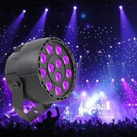 Wholesale dj par lights - High Power 36W 12 LEDs Sound Active UV Led Stage Par Light Ultraviolet Led Spotligh Lamp for Disco DJ Projector Machine Party