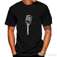 mikrofon t großhandel-2018 neue Ankunft T Shirt Kurzarm Grafik Oansatz Personalisierte Mikrofon Tees Für Männer