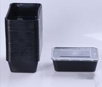 ingrosso nero bento-Contenitore per alimenti microwavable con coperchio Bento Box, nero con coperchio accetta all'ingrosso e OEM