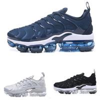оригинальные баскетбольные туфли для продажи оптовых-Продажи Оригинальные 2018 НОВЫЙ TN Плюс Мужская Обувь Для Дешевые Tn Plus белый Черный синий Баскетбол Кроссовки Tn Requin Chaussures