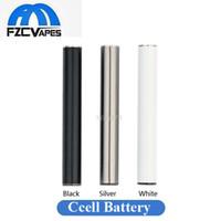 vape führte batterie leuchtet großhandel-Mjtech C5 Batterie 345mAh Wiederaufladbare Vape Pen Patrone CE3 Batterie 10.5mm 510 Bud Touch Batterie LED-Licht für TH205 Tank A3 Carts