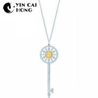 collar de sol de 925 al por mayor-YCH Charm Gift 925 Sterling Silver Sun Atractivo Elegancia Temperamento Collar Joyas Mundial