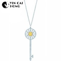 collier de soleil 925 achat en gros de-YCH Charme Cadeau 925 En Argent Sterling Soleil Attrayant Élégance Tempérament Collier Monde Bijoux
