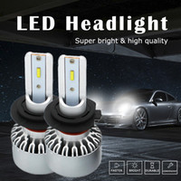 Wholesale audi a4 fog lights - WLJH 4000LM Canbus LED H7 Headlight All In One Conversion Kit High Low Beam Headlamp H7 LED Fog Driving Light 2-Year Warranty
