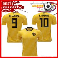 Wholesale op shorts - OP QUALITY 2018 World Cup Belgium Home red Soccer jersey 18 19 away LUKAKU HAZARD VERMAELEN KOMPANY DE BRUYNE Football shirt