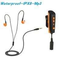 reproductor digital a prueba de agua al por mayor-2018 Buceo natación Mp3 IPX8 Reproductor a prueba de agua con Eaephone Mini Mp3 8GB Clip Digital Deportes Reproductor de música de alta fidelidad para el verano