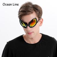 masken für fotokabine großhandel-Lustige Alien Kostüm Sonnenbrille Maske Neuheit Brille Halloween Photo Booth Requisiten Zubehör Party Supplies Dekoration Geschenk
