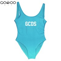 mädchen rot einteilige badeanzüge großhandel-GCDS weiblicher einteiliger Badeanzug-Mädchen-Badebekleidungs-Frauen-Bikinis biquinis feminino 2018 Monokini reizvolle rote Beachwear femme trikini