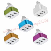 Wholesale usb port expansion - 3 Port Hub Splitter alloy single usb to 3 usb extra ports usb charger for mobile phone netbook desktop Expansion