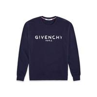 vintage sweatshirts für männer großhandel-Design Luxury 18ss Europe verschwommen Paris Sweatshirts France Fashion Schwarzes Felpa-Sweatshirt mit weißem Vintage-Effekt-Druck für Damen und Herren mit Kapuze