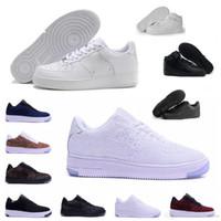ingrosso scarpa casual marrone per gli uomini-Nike Air Force one 1 Moda di alta qualità Forcing CORK Uomo Donna One 1 Scarpe da corsa taglio alto Basso Tutto bianco Colore marrone nero Casual Sneakers Taglia 36-46