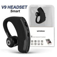 Wholesale headphone wireless noise cancelling mic resale online - V9 Wireless Bluetooth Headphones Business Drive Earphone Earbuds Headset With Mic Stereo CSR Noise Cancelling Voice Control with package