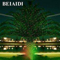 Wholesale Sky Spotlights - Wholesale- BEIAIDI Sky Star Outdoor Christmas Laser Projector Green Red Laser Spotlight Lamp Landscape Garden Christmas Stage Light