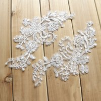 Wholesale theatrical dresses - French lace patch with silver bones wedding dress DIY materials theatrical costume accessories T020