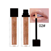 Wholesale wholesale bright lipstick online - HANDAIYAN Matte Matellic diamonds glitter lipstick glowing bright lipstick lasting flow gold lipstick liquid lip gloss sexy color DHL Free