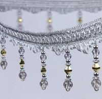 ingrosso tende decorate-Type-7 12Meter strass Bead Pendant Hanging Lace Trim Ribbon per le tende della finestra Wedding Party Decorare Abbigliamento Cucito fai da te