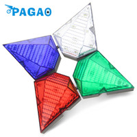 Wholesale head gems - PAGAO Bike Taillight LED Laser Bicycle Light Gem Warning Lights Waterproof Bike Light 4 Modes Accessories 0112