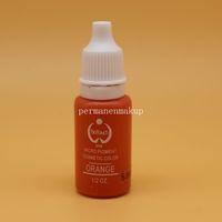 cosméticos de tinta venda por atacado-2 pcs LARANJA Maquiagem Permanente Micro pigmentos Biotouch 1/2 oz 15 ml Tinta De Tatuagem Para Lábio Sobrancelha Tatuagem Cosmética