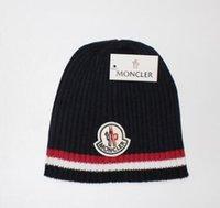ingrosso cappelli di cappelli invernali degli uomini-Berretto di lana a 3 colori per uomo Berretto di lana a maniche lunghe per donna