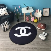 Wholesale multi function machine - INS new round multi-function mat Nordic wind room decoration trend letter pad fashion simple home non-slip mat