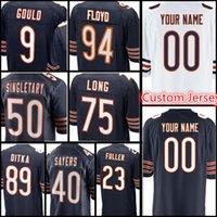 Wholesale custom bear - Bears Custom Jersey Men's #40 Gale Sayers 23 Kyle Fuller 9 Robbie Gould 89 Ditka 94 Floyd 75 Long 50 Mike Singletary Jerseys