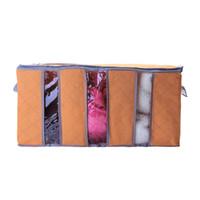 sacolas de camisola venda por atacado-Atacado 65L maior tamanho dobrável Roupeiro Saco De Armazenamento Roupas Cobertor Travesseiro Colcha Armário Camisola Caixa Bolsa Organizar