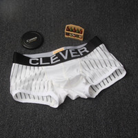 Wholesale Boxers Underwear - Hollow silk breathable boxer underwear sexy fashion male solid tide brand U convex angle four shorts head wholesale