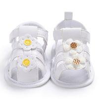 ingrosso pantofole di mocassini delle ragazze-Baby Summer Flower Shoes Newborn Girls Princess Shoes Mocassini GoldYellow Kids Slippers Prewalker Per 0-18M Kid Girls