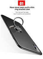 Wholesale Thin Metal Rings - Case For iPhone X Cases Ultra Thin Finger Ring Holder Case For iPhone X Cover Full Protective Phone Bracket Stand Shell